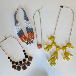 Lot of 4 bubble costume statement necklaces